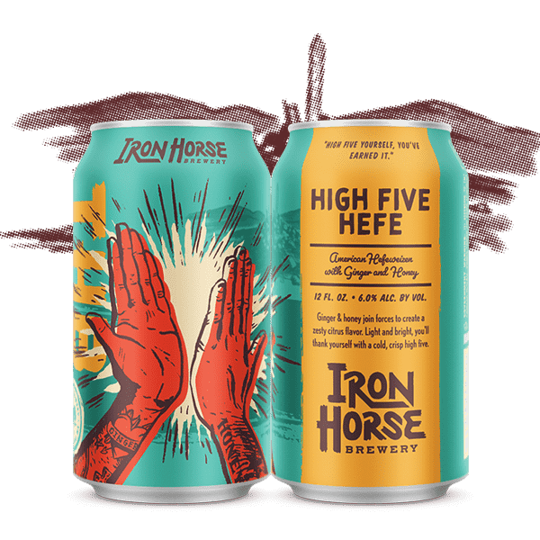 High Five Hefe - by Iron Horse Brewery