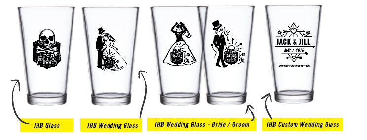 Iron Horse Brewery Wedding Glasses